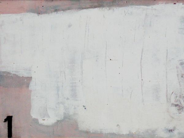 Kimonofaltung 1 (2010), Mischtechnik auf Hartfaser, 60x80 cm