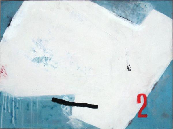 Kimonofaltung 2 (2010), Mischtechnik auf Hartfaser, 60x80 cm
