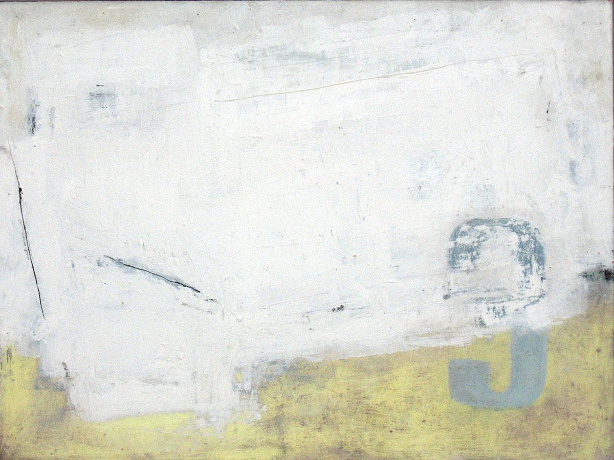 Kimonofaltung 3 (2010), Mischtechnik auf Hartfaser, 60x80 cm