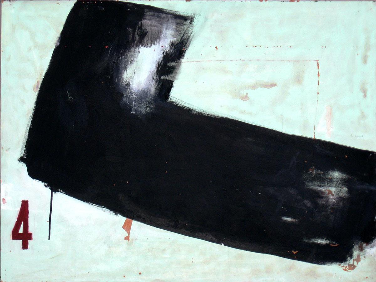 Kimonofaltung 4 (2010), Mischtechnik auf Hartfaser, 60x80 cm, Privatsammlung