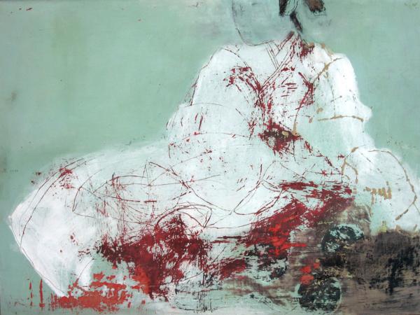 Am Morgen (2010), Mischtechnik auf Hartfaser, 60x80 cm, Privatsammlung