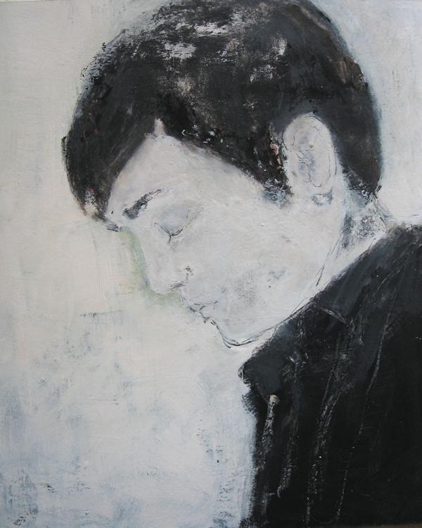 Bursch (2009), Mischtechnik auf Finnpappe, 60x50 cm, Privatsammlung