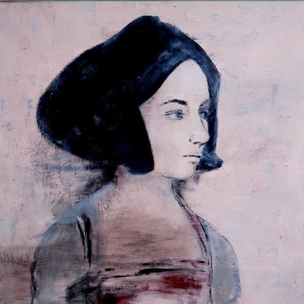 Eva (2010), Mischtechnik auf Hartfaser, 100x100 cm, Privatsammlung