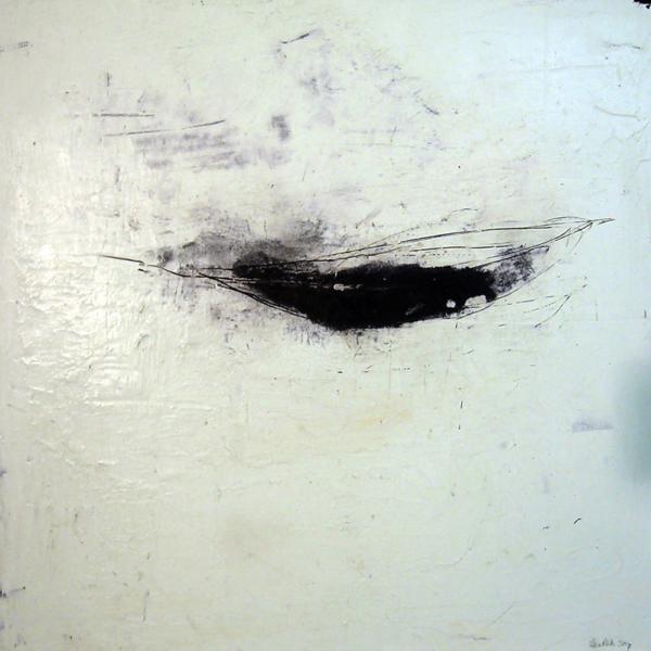 Kanu (2008), Mischtechnik auf Hartfaser, 50x50 cm, Privatsammlung