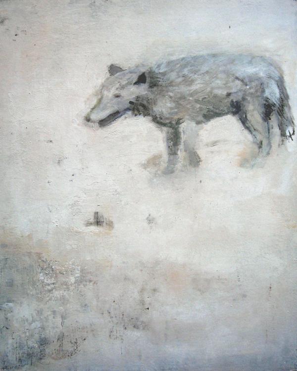 Schweinehund (2009), Mischtechnik auf Finnpappe, 60x50 cm, Privatsammlung