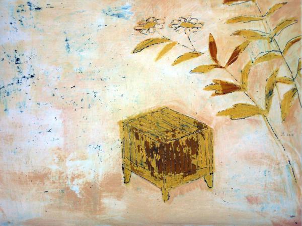 Sommerliches Bild (2010), Mischtechnik auf Hartfaser, 60x80 cm